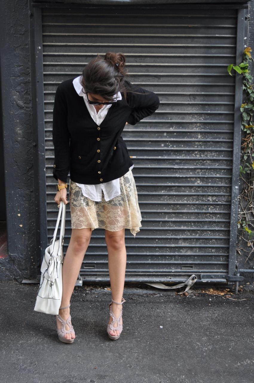 Lace top/skirt.
