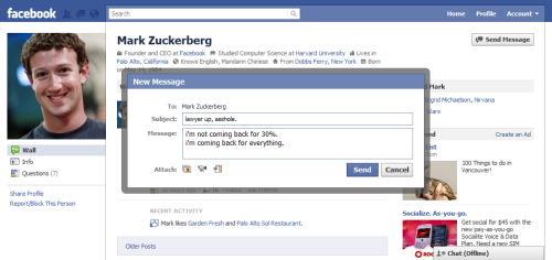 thisisnowanarchive:  I like to send Mark Zuckerberg messages periodically - you know, to check in, see how he's doing.