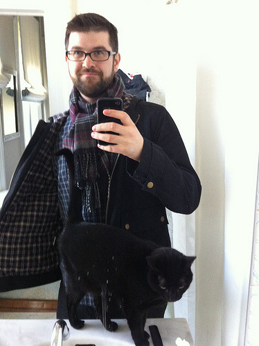 Plaid 3 ways and a cat (by fuzzpup) what a busy weekend. I did't pay for any drinks, I bought a topiary, I gifted that topiary, I wore a lot of plaid at all times, I did some yoga, I ate a lot of good food. can we delay this week some more?