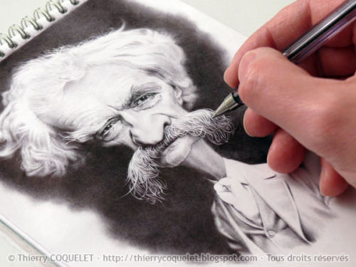 Drawing Twain. art by  Thierry Coquelet :: via thierrycoquelet.blogspot.com