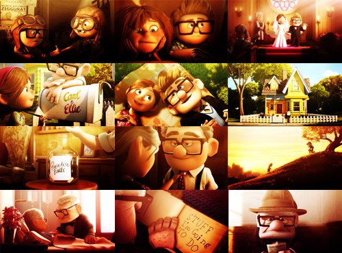 disneywise:  Carl and Ellie. They make love look so simple <3