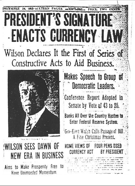 Before the implementation of the Federal Reserve Act central banking charters expired every 20 year. It is often spoke of in economic and policy circles that Mr. Woodruff stated years later that this was his greatest error doing his presidency. Legislature that he would always regret supporting. I read the letter he wrote to a close friend expressing his ideas on the issue; to say the very least, it is disheartening.