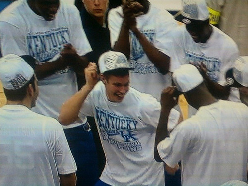 jumptonow:  Polson doing the Dougie. Whitest kid ever.  BUT ISN'T HE CUTE!