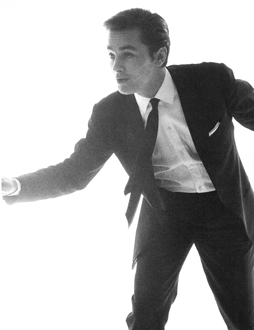 Alain Delon, 1962. Photographed by Bert Stern.