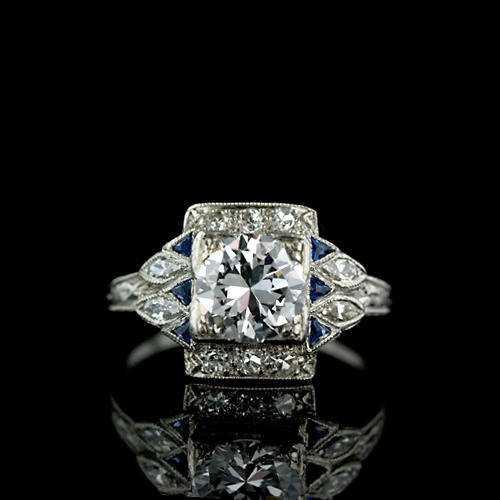 artnouveauanddeco:  Art Deco engagement ring.