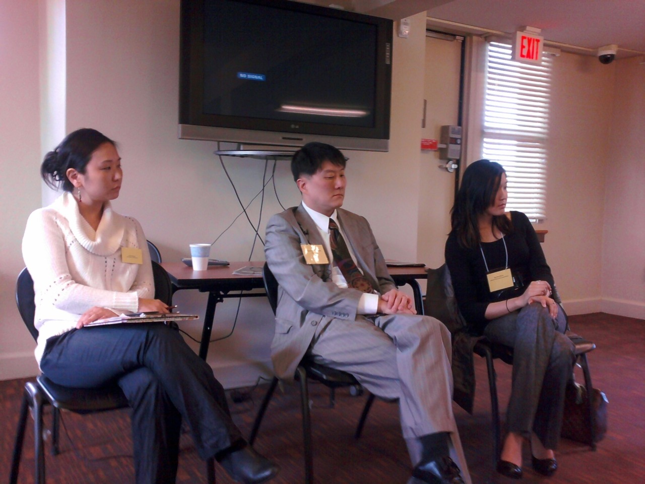 Korean Adoptees from the Out of the Margins: Asian American Movement Building Conference which was held at the University of Michigan in Ann Arbor, Michigan.  Starting on the left are Rachel Sisco, Senator Hoon-Yung Hopgood who was elected to represent the Downriver communities of Southeast Michigan following three terms in the Michigan state assembly, and the last girl I cannot recall her name since it is not listed.   All shared their stories as adoptees which varied; however, they all share the same idea that as international adoptees, introduction to cultural heritage is important when an adoptee needs exposure to discussions about race, discrimination and prejudice and know how to respond positively.