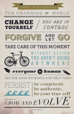 "Gandhi's Top 10 Fundamentals for Changing the World11x17"" PDF file"