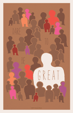 "Dare to be Great (Tan)11x17"" PDF file$2.85"