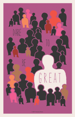 "Dare to be Great  (Purple)11x17"" PDF file$2.85"