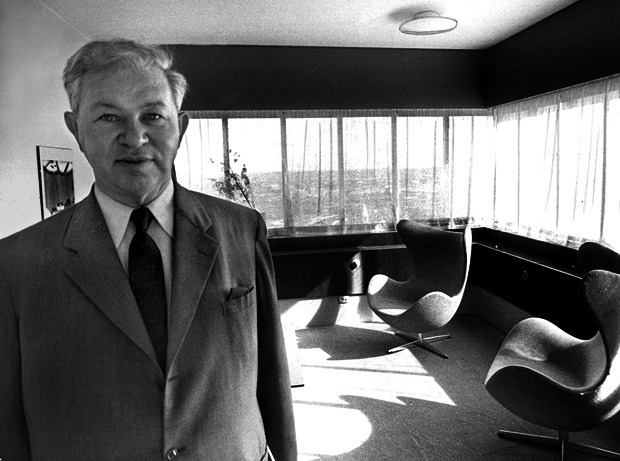 A gallery tribute to Arne Jacobsen's SAS House masterpiece and his vision.