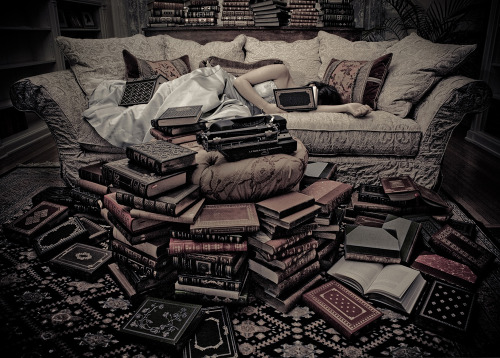I will probably die surrounded by books.