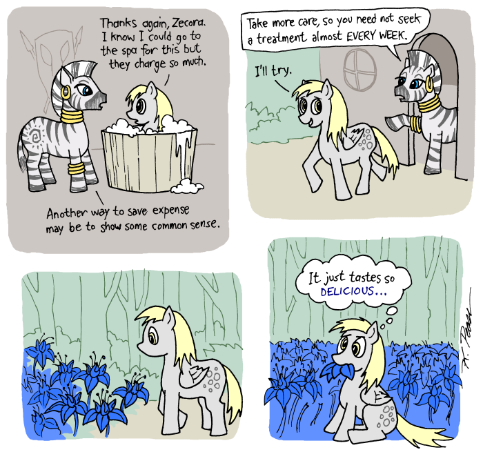 This is actually a pretty reasonable explanation for why she's derpy all the time.
