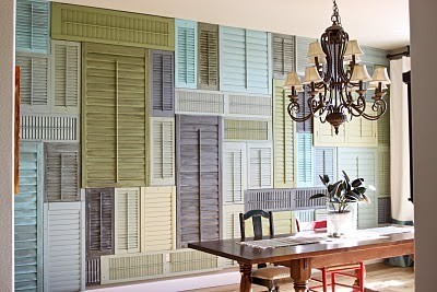 DIY Idea: Shutter Wall via Today's Creative Blog