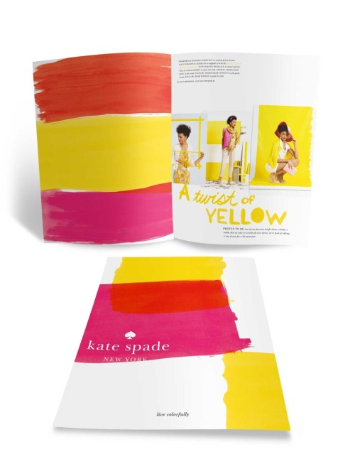 Kate Spade-A Twist of Yellow, Live Colorfully  I am the color yellow, bright and vibrant wherever I go.Imagination fills my brain andhappiness covers my face. I smellsunshine and confidence thatencourages my strengths.I am the color yellow. A Poem by Courtney, 9th grade, Bellaire High School