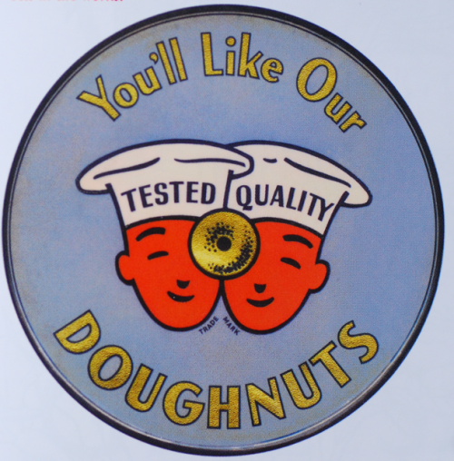 Logo for Tested Quality Donut by Clarence Hornung. ::Via Letterology