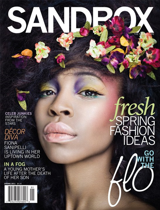 Ummm, ah-mazing! @flosoul covers the latest issue of @sandboxmag. Spring, along with gorgeous Nigerian (represent) talent, is in the air. Reblog this shit outta this. muah.