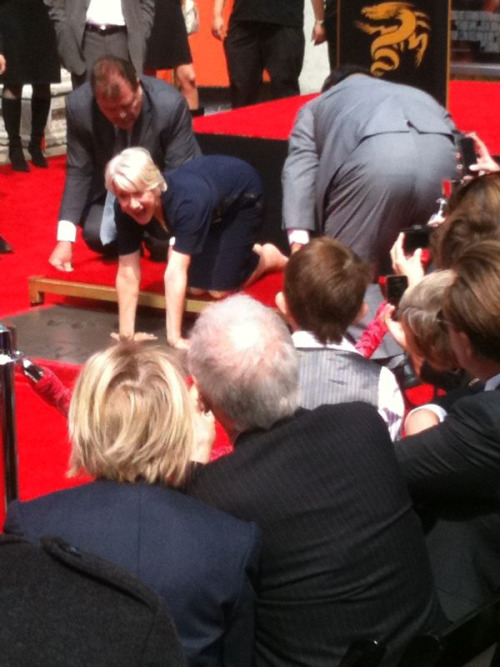 Helen Mirren gets her hands cemented in Hollywood!