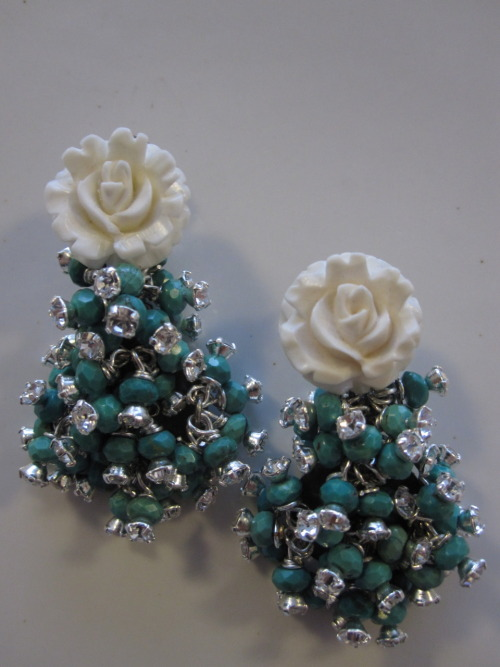 Ivory and Turquoise Earrings!