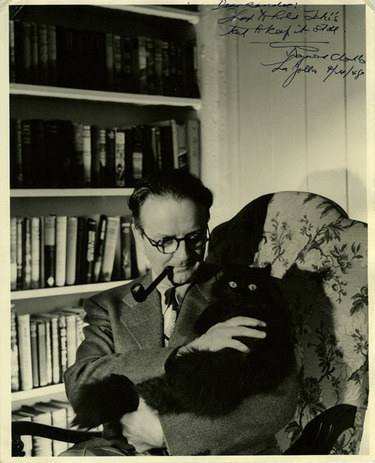 Raymond Chandler and his kitty in yet another mystery.