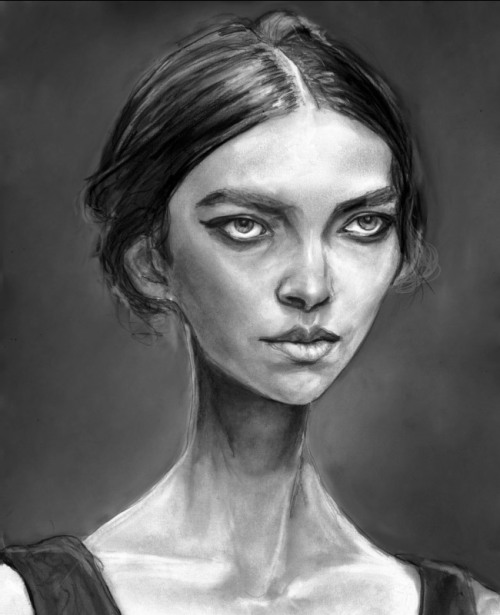 Portrait of Arizona Muse by Danny Roberts