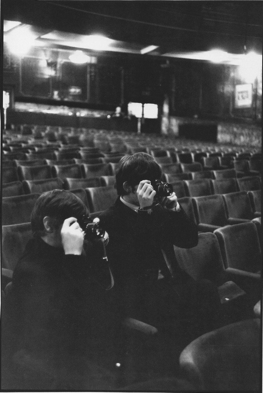 theswingingsixties:  George and Ringo taking pictures in the pictures.