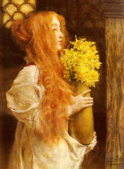 Spring Flowers by Sir Lawrence Alma-Tadema