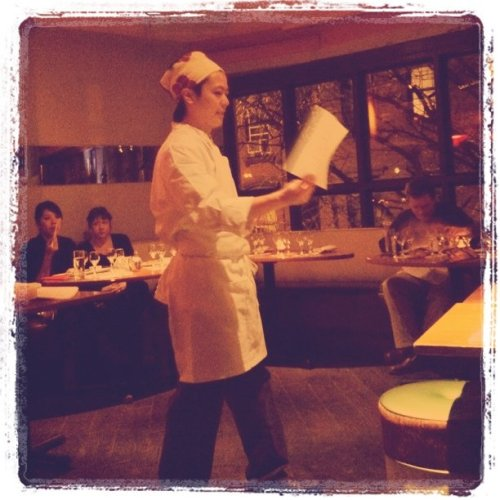 Executive sushi chef teaching sushi class (Taken with Instagram at SUSHISAMBA 7)