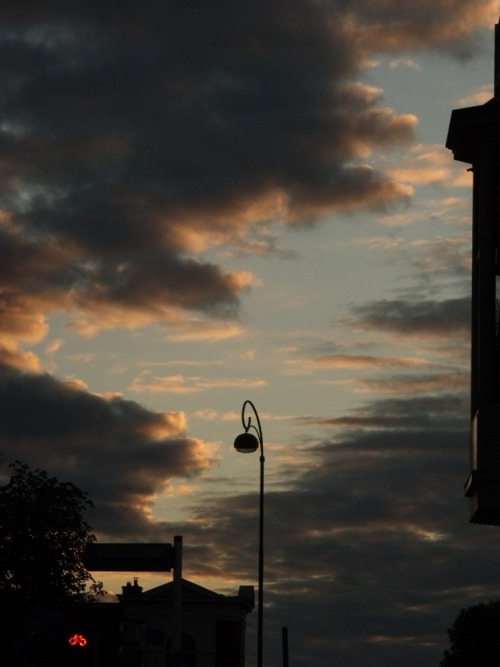 Haarlem Sky and Street Light