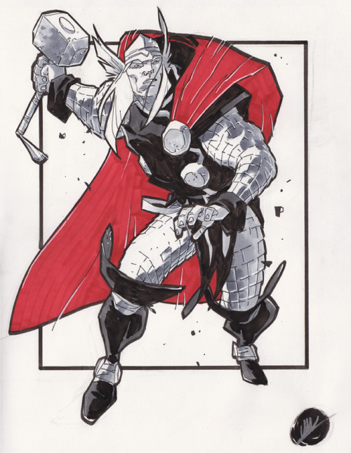 kapowbamfwoosh:  Thor by Matteo Scalera  ,