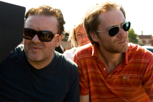 Ricky Gervais and Stephen Merchant.  (via tallbaby)