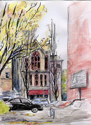 fyeahportland:  Portland, Oregon - Bishop's House (NaNoDrawMo #15) (by geminica)