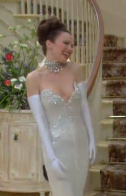12 DAY THE NANNY CHALLENGE   3. Favorite outfit that Fran wore: The dress she was supposed to wear to go to Barbra's show <3 S01E19 Ode to Barbra Joan