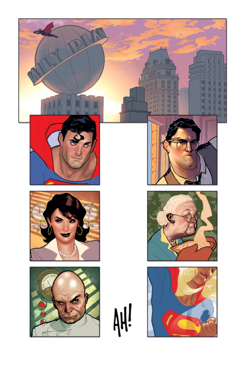 heysawbones:  More Adam Hughes Superman.