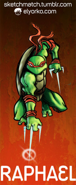 la propuesta de @jorgefmunoz (via #sketchmatch !!! TMNT!!! on Twitpic)