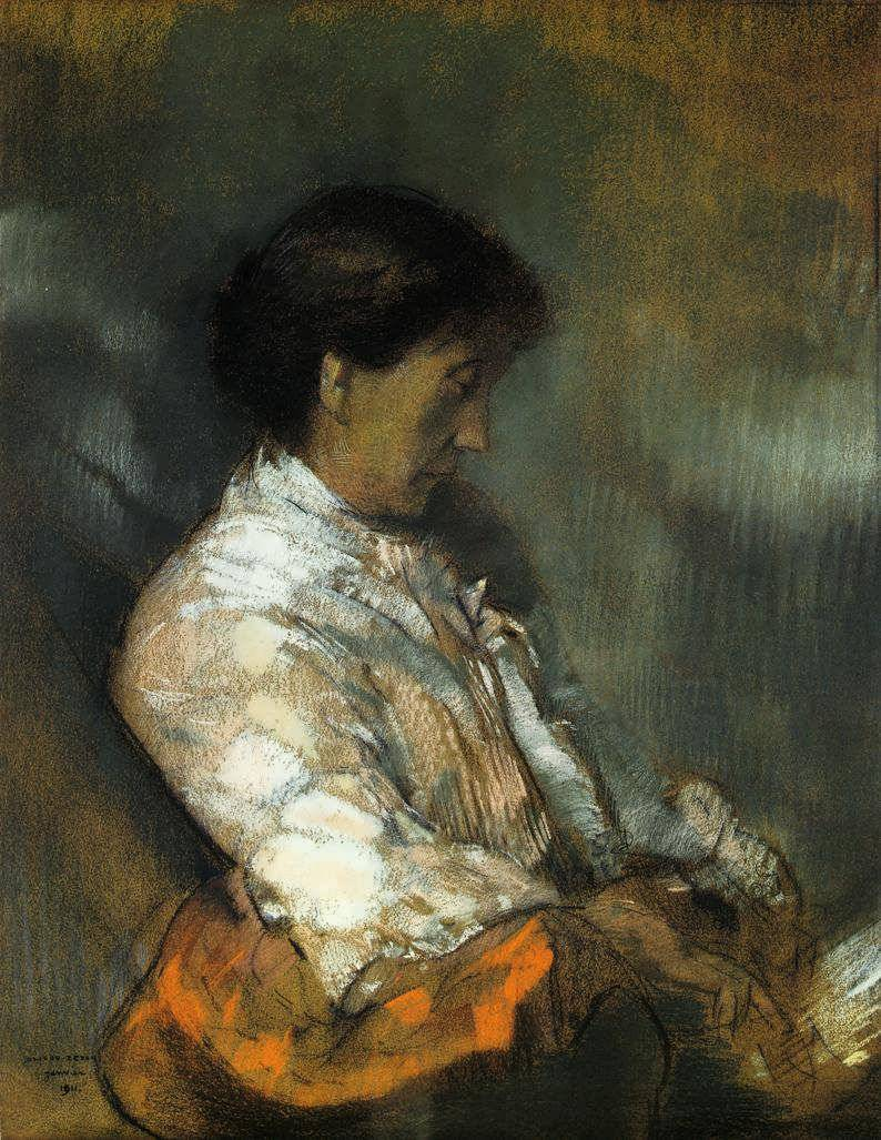 Portrait of Madame Redon Odilon Redon