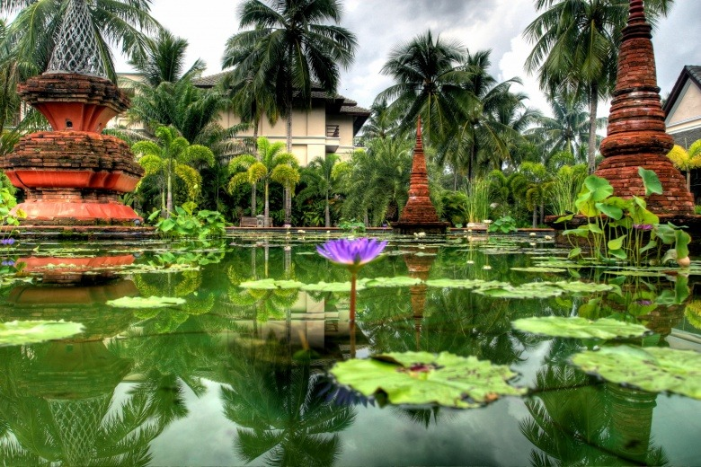 Daily Travel Inspiration: Thailand Chiang Mai, Thailand.  Lily garden at the Mandarin Oriental Dhara Dhevi.  (Photo by Paula Bronstein/Getty Images News)