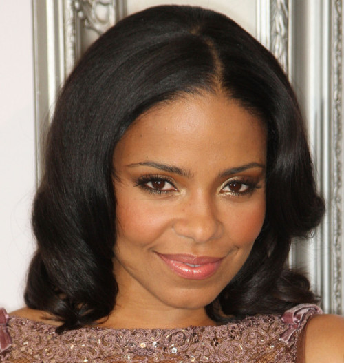 Sanaa Lathan is gorgeous!  I need to find a wig at www.blackhairwigs.net and figure out how to match her 'do!