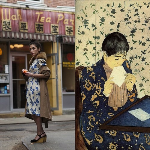 becauseimaddicted:  The Sartorialist / Mary Cassatt – The Letter
