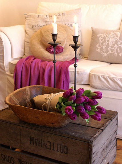 inspired-design:  Color Soiree: Pops of Magenta