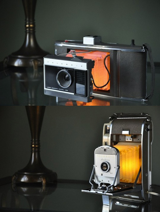 DIY vintage Polaroid camera lamps will up the sophistication factor of your apartment x10! via KodakBC on Twitter