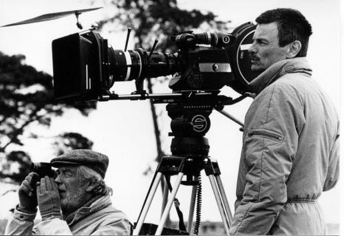 Andrei Tarkovsky and Sven Nykvist on the set of The Sacrifice 1986 (UCalg photo)