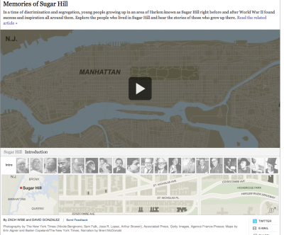 This is an example of a great interactive multimedia piece done by the NY times last year.  I just wanted to bring it back because it's a great piece that shows how effective multimedia journalism can be.