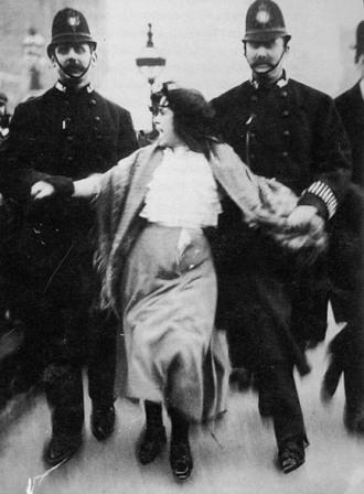 Dora Thewlis being arrested in March 1907 for her work as a suffragette