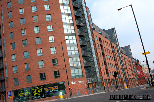 Hacienda Apartments, Manchester, England. Crazy that it's now apartments.
