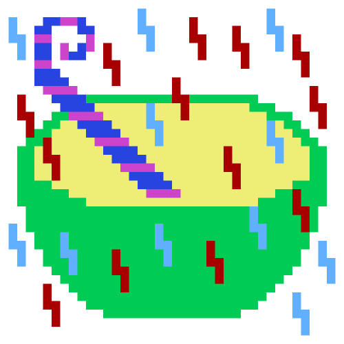giromidoodles:  Surprise Tapioca for @lafix // C64 Paint
