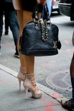 Very Nice… the shoes and bag combo compliment each other fabulously!