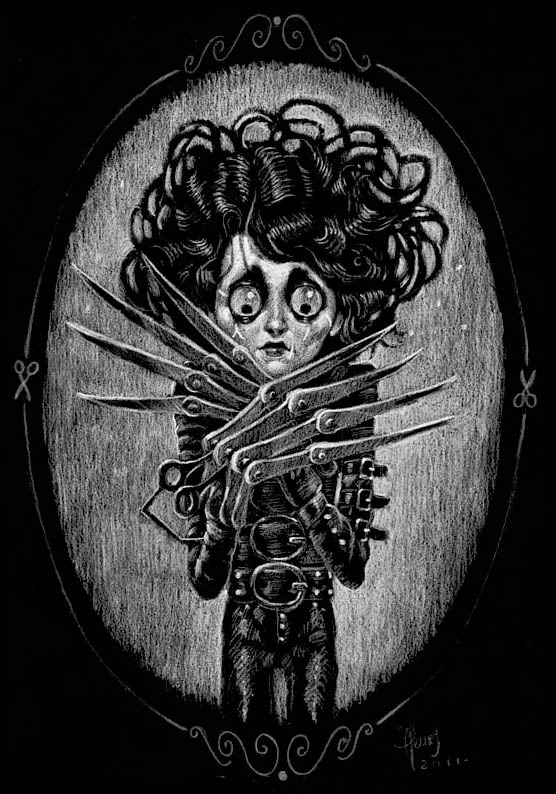 Edward  by Jérémie Fleury Edward Scissorhands tribute art for the film's 20th anniversary