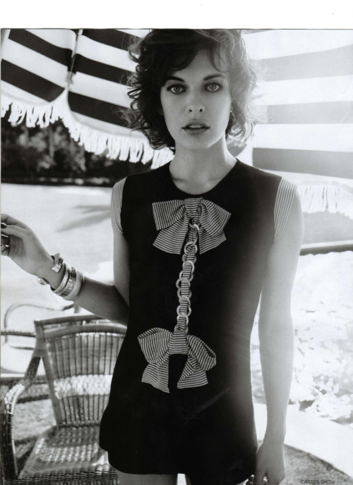 Milla Jovovich for Vogue UK
