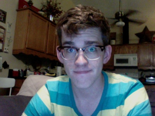 I was going to video chat with Alex to show him my haircut but he is videochatting with a boy who is showing (did show) him a painting he did on acid, so that's cool. Kristina cut my hair. She says it makes me look straighter. I'm unsure. Opinions?