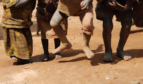 dancing feet, pygmy children